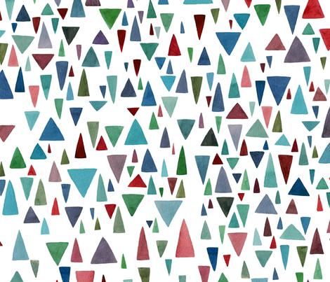 Watercolor geometric fantazy fabric by lavish_season on Spoonflower - custom fabric