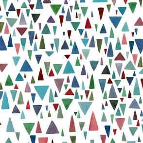 Watercolor geometric fantazy