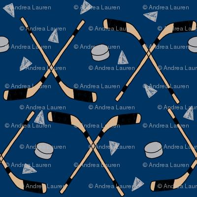 hockey fabric //  hockey sports fabrics hockey sport ice hockey kids fabric  - navy