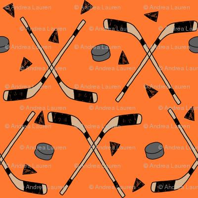 hockey fabric //  hockey sports fabrics hockey sport ice hockey kids fabric  - orange