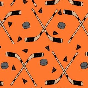 hockey fabric //  hockey sports fabrics hockey sport ice hockey kids fabric  - orange