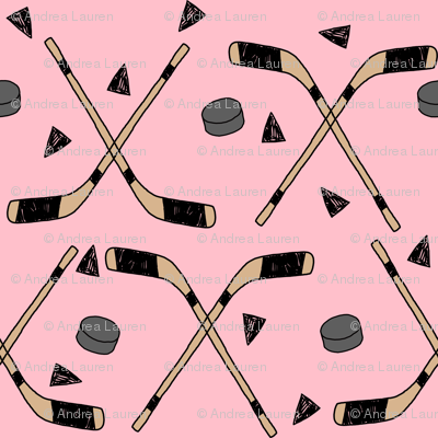 hockey fabric //  hockey sports fabrics hockey sport ice hockey kids fabric  - pink
