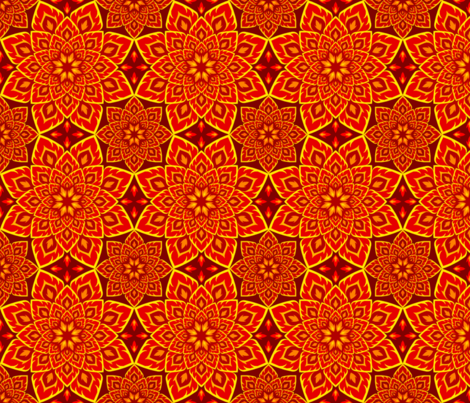 06205742 : S84 fire mandala : red peril fabric by sef on Spoonflower - custom fabric