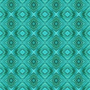 Crystalline Teal Diamond Brocade