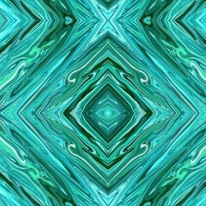 LCT - Liquid Crystalline Teal  Diamonds, small
