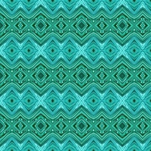 Teal and Aqua Geometric Stripes - CW