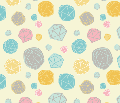 Geodesic Polka Dot fabric by kellie_jayne_ on Spoonflower - custom fabric