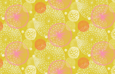 Geodesic in Apple Green by Friztin fabric by friztin on Spoonflower - custom fabric