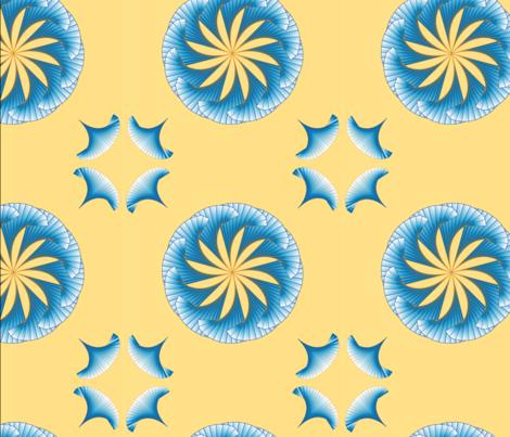 Blue Lotus fabric by deborah_anne on Spoonflower - custom fabric