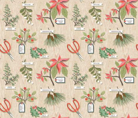Greens for Christmas fabric by sheri_mcculley on Spoonflower - custom fabric