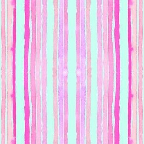 stripes turquoise pink
