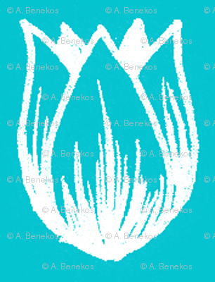Doodle Tulip (Turquoise)