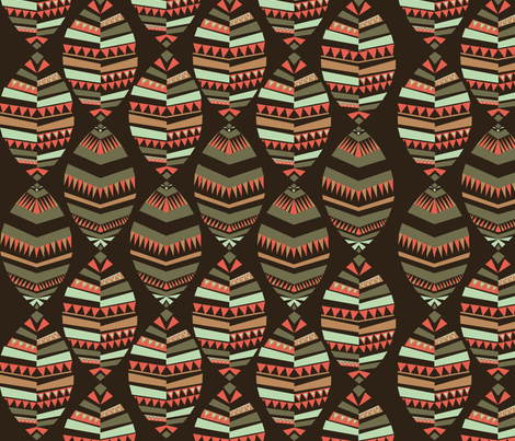 Aztec inspired Geodesic Design fabric by designcrib_by_nabomita on Spoonflower - custom fabric