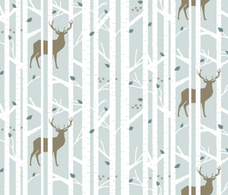 Walk in the woods (Country Boy) on Freshwater fabric by buckwoodsdesignco on Spoonflower - custom fabric