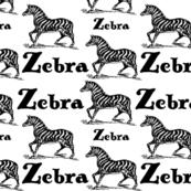 Z for Zebra