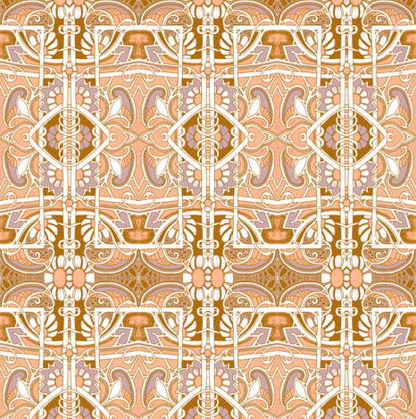 Rust Plus Peach Equals Paisley fabric by edsel2084 on Spoonflower - custom fabric