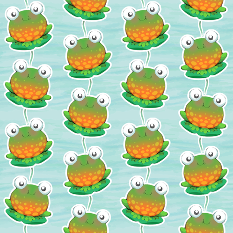 watercolour Frogs small fabric by woodmouse&bobbit on Spoonflower - custom fabric