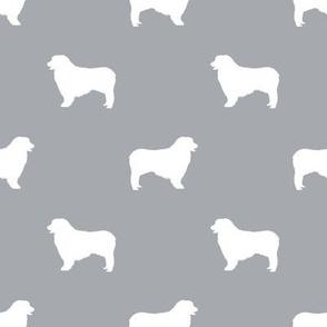 Australian Shepherd silhouette dog breeds grey