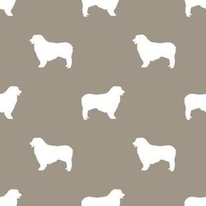 Australian Shepherd silhouette dog breeds med brown