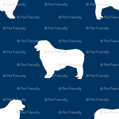 Australian Shepherd silhouette dog breeds navy