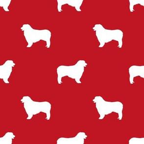 Australian Shepherd silhouette dog breeds red