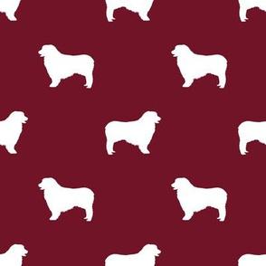 Australian Shepherd silhouette dog breeds ruby