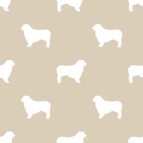 Australian Shepherd silhouette dog breeds sand fabric by petfriendly on Spoonflower - custom fabric