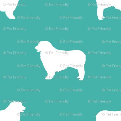 Australian Shepherd silhouette dog breeds turquoise