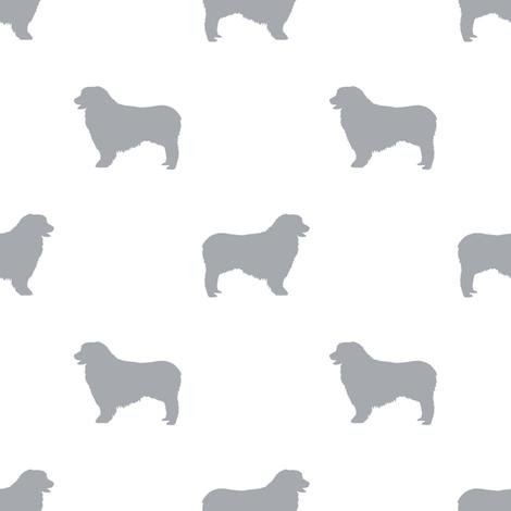 Australian Shepherd silhouette dog breeds white grey fabric by petfriendly on Spoonflower - custom fabric