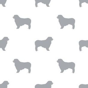 Australian Shepherd silhouette dog breeds white grey