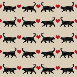 black cat heart fabric pet friendly patterns