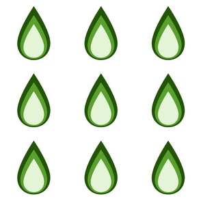 Raindrop_3_colour_olive_greens