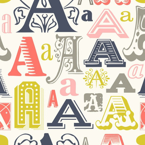 Seamless Pattern Letter A
