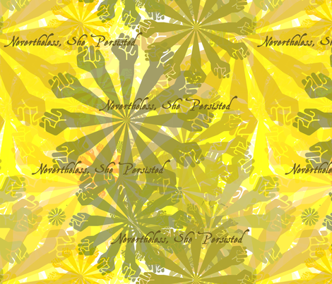 Nevertheless, She Persisted - Yellow fabric by antieuclid on Spoonflower - custom fabric