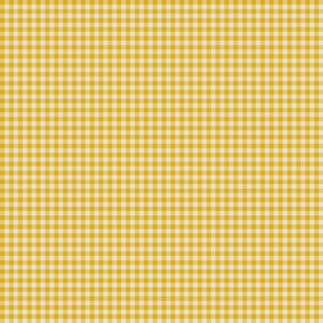 Quarter Inch Yellow Gingham