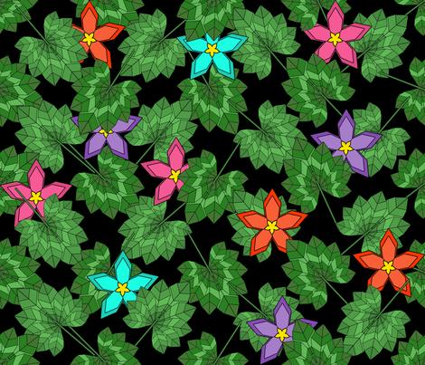 Geodesic Jungle fabric by artsytoocreations on Spoonflower - custom fabric