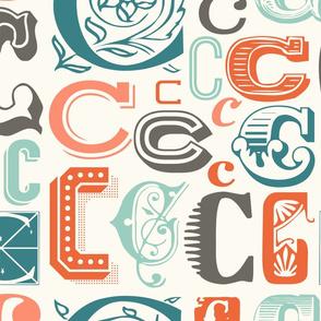 Seamless letter C pattern
