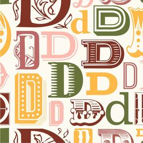 Seamless letter D pattern