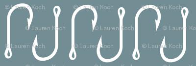 Fish hooks (small scale) on Lake