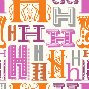 Seamless letter H pattern