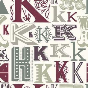 Seamless letter K pattern