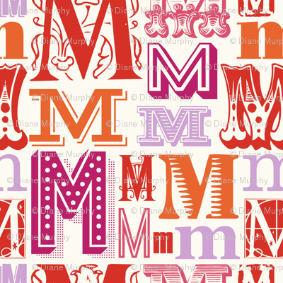 Seamless letter M pattern