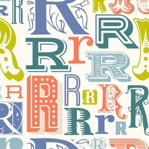 Seamless letter R pattern