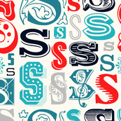 Seamless letter S pattern
