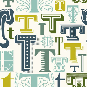 Seamless Letter T Pattern