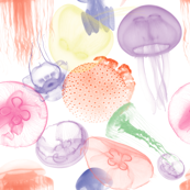 Electric Jellyfish in White