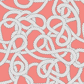 Nautical Rope Knots in Coral