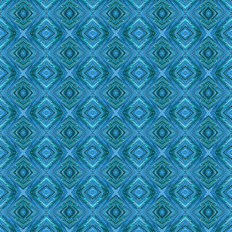 LAM - Liquid Aquamarine Diamond Brocade fabric by maryyx on Spoonflower - custom fabric