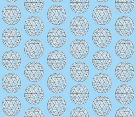 Geodesic Polka Dot fabric by woolandbristle on Spoonflower - custom fabric