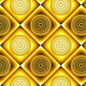 Fractal Mandala Checkerboard 1